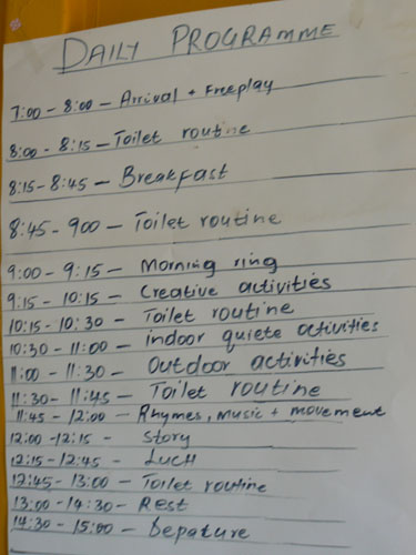 office timetable