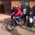Sebokeng, bicycles and blankets for HBC project