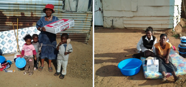 St Joseph's Care and Support Trust, Bronkhorstspruit, Archdiocese of Pretoria, helps with mattresses