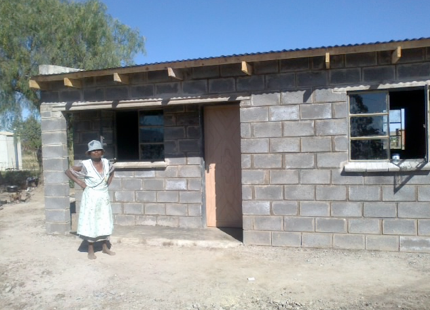 New house in Rooifontein, Thole Location, Thaba Nchu