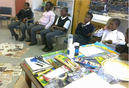Art classes for children in Thaba Nchu