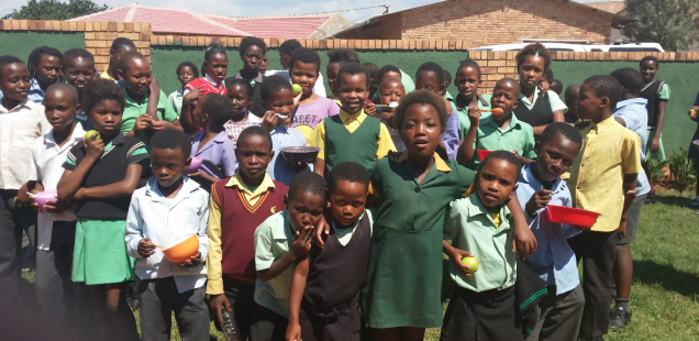 Orphaned and vulnerable children at Rorisang , Diocese of Klerksdorp