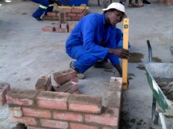 Building training in Swaziland.