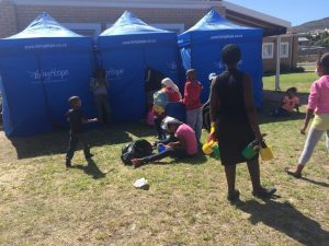 HIV testing tents at the Family day - 19 March 2016