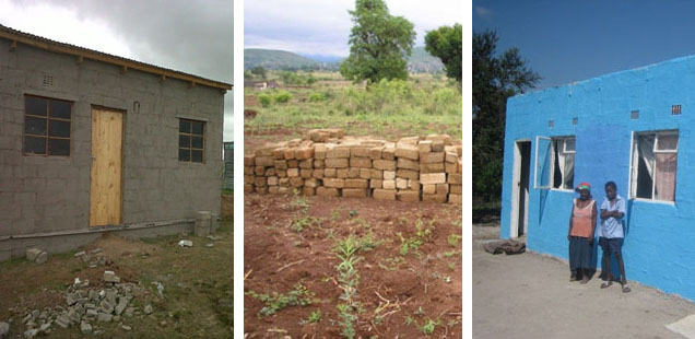 New houses in Nkomazi, Tzaneen and King Williams Town