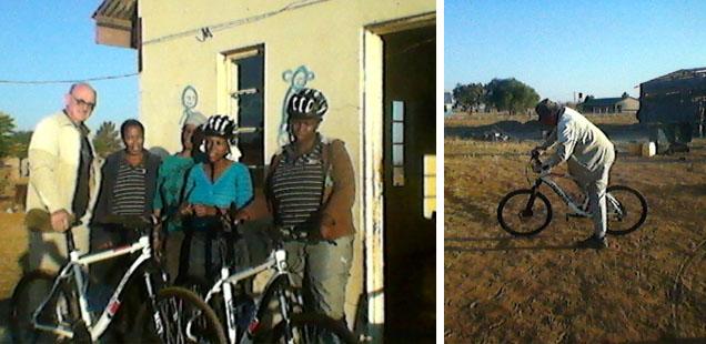 Bicycles for Baitlami Ba Sechaba caregivers in Kopela, Klerksdorp Diocese.