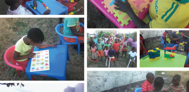 Children at Sizumndeni Care Centre See Puzzles and Building Blocks for the First Time