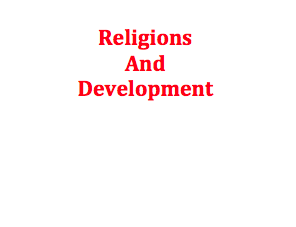 Conference on Religions and Development, 21-23 June 2017, Würzburg